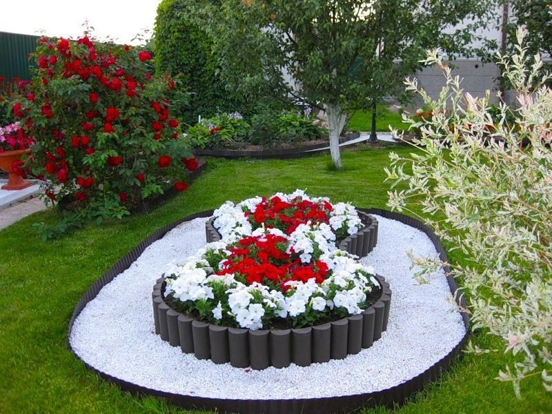 Оформление цветочных клумб фото