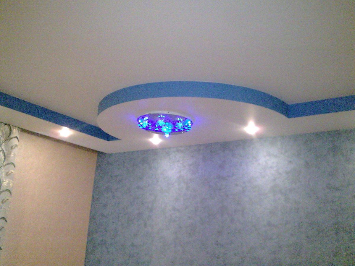 Потолки из гипсокартона своими руками фото спальня