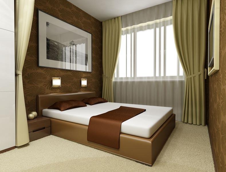 Дизайн спален фотогалерея интерьера в малогабаритных