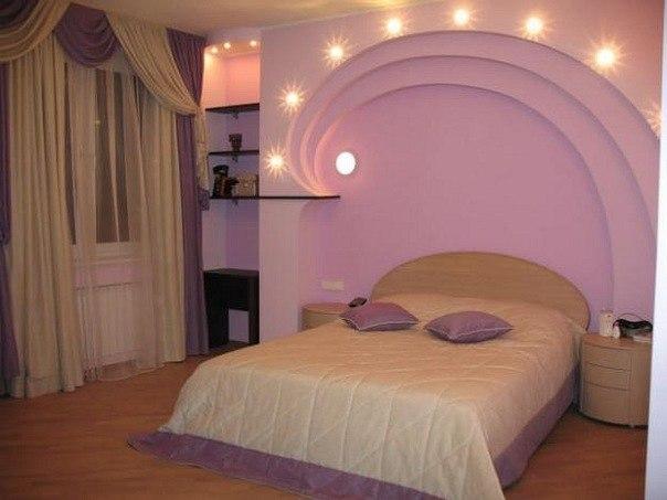 Спальня своими руками фото из гипсокартона