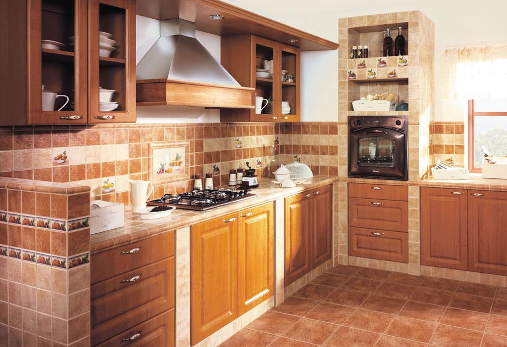 Плитка в интерьере кухни фото