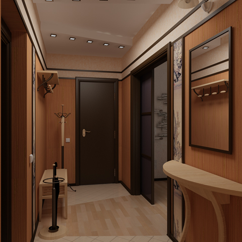 Ремонт коридора в доме фото