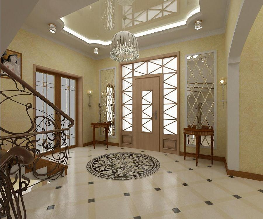 Фото дизайна холла с лестницей
