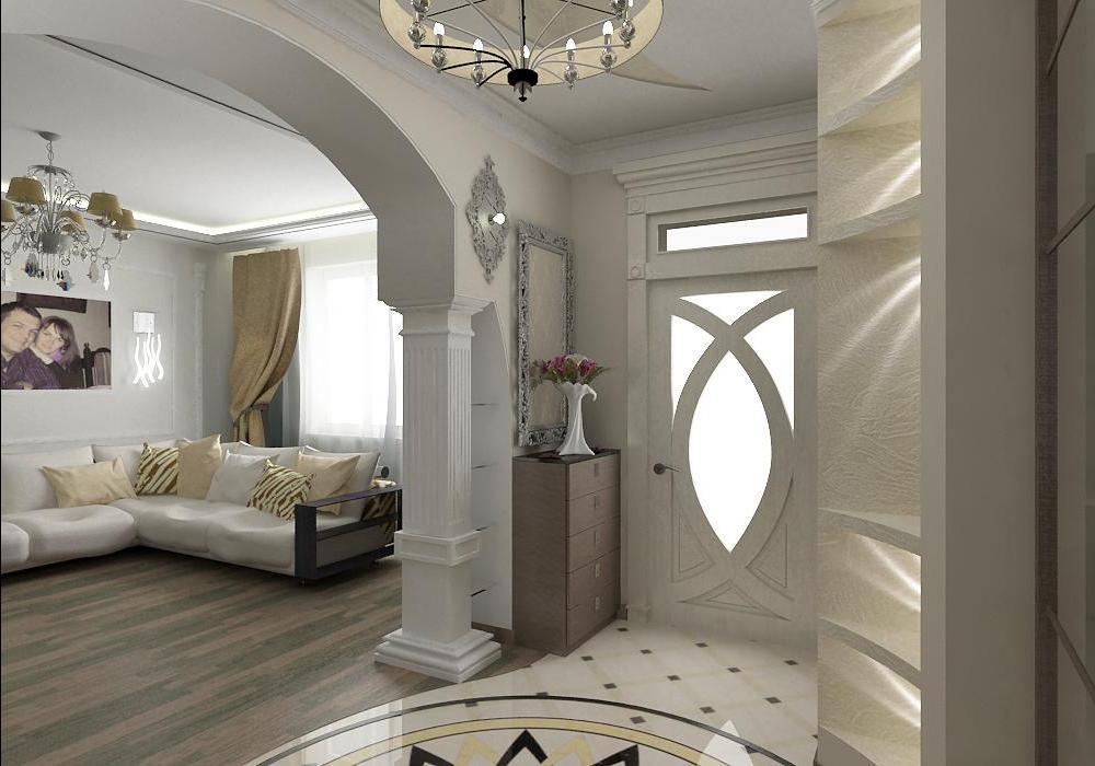 Дизайн коридора в коттедже